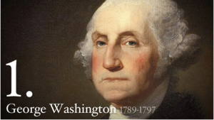 George Washington was the first president of the United States of America. He served two terms from 1789 to 1797. (Photo Source: Whitehouse.gov)