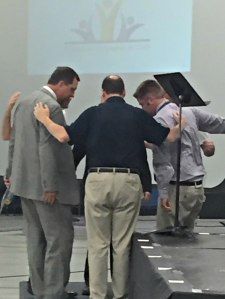 Prayer. This is how we began the Summit - Dan Heuertz, our gifted facilitator, Tom Hensley, the leader of the Stronger Together movement, and Immanuel's pastors.